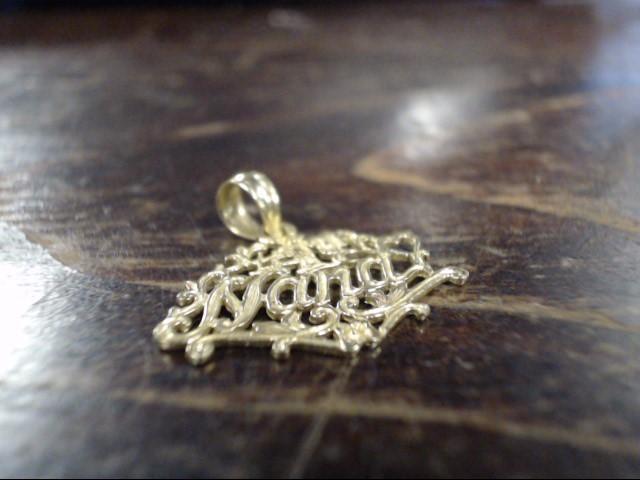 Gold Pendant 14K Yellow Gold 0.8g