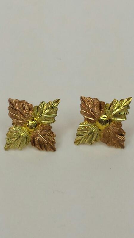 Landstrom's Black Hills Gold Gold Earrings 10K Yellow Gold 0.75dwt
