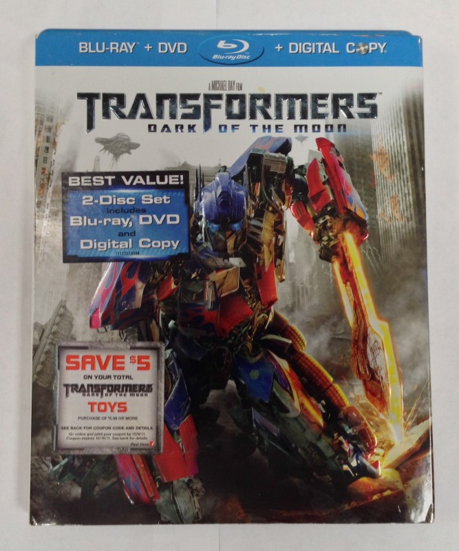 TRANSFORMERS BLU-RAY DARK OF THE MOON