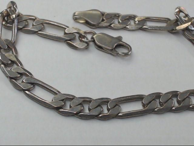 Silver Figaro Bracelet 925 Silver 7.2g