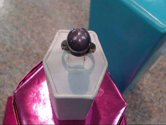 Purple Stone Lady's Silver & Stone Ring 925 Silver 3.85dwt