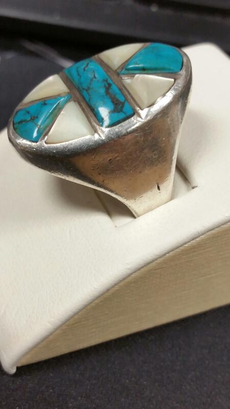 Lady's Silver Ring 925 Silver 12.6dwt Size:10