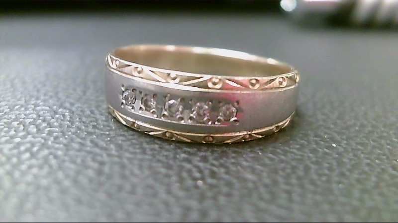 Gent's Diamond Cluster Ring 5 Diamonds .10 Carat T.W. 14K Yellow Gold 3.1g
