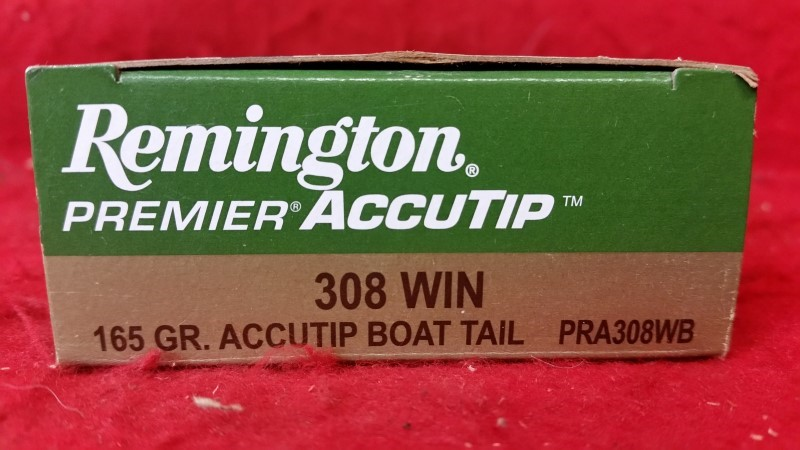 Remington 308win 165gr Accutip Boat Tail #PRA308WB