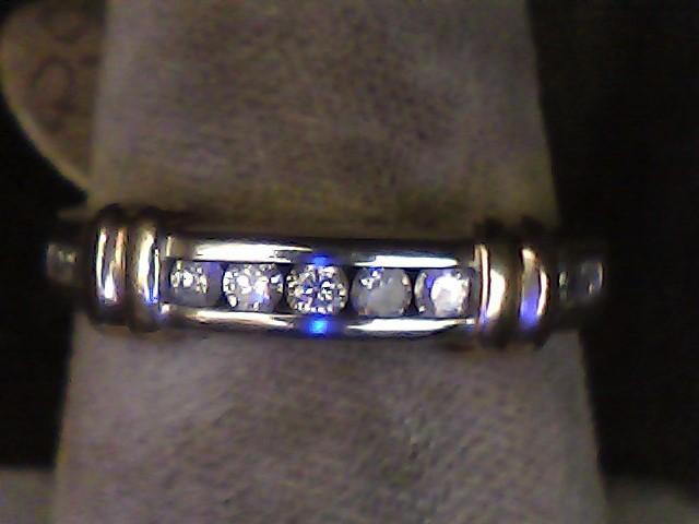 Lady's Diamond Fashion Ring 9 Diamonds .18 Carat T.W. 10K 2 Tone Gold 1.9dwt