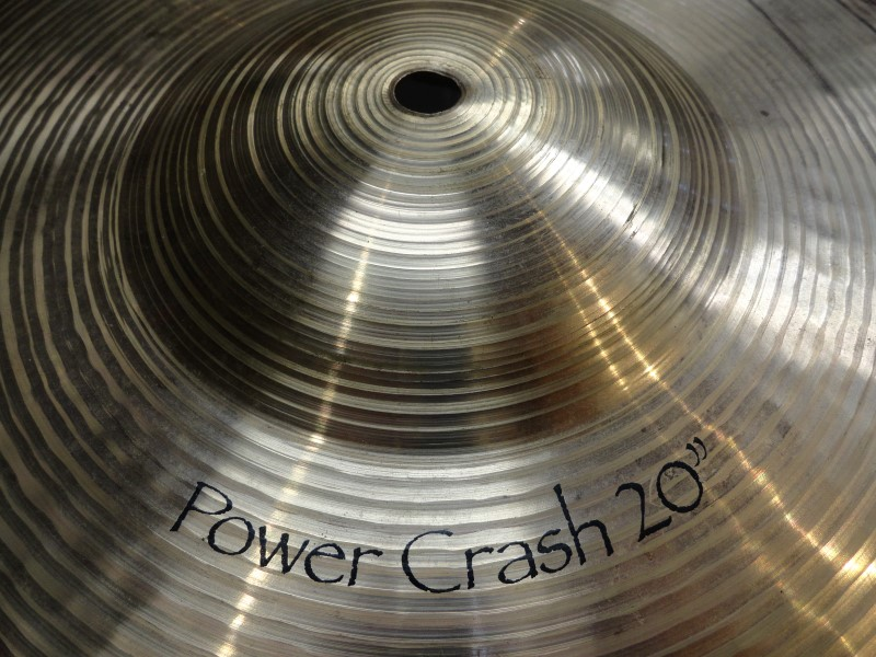 "PAISTE Cymbal POWER CRASH 20""  CRACKED! As-Is"