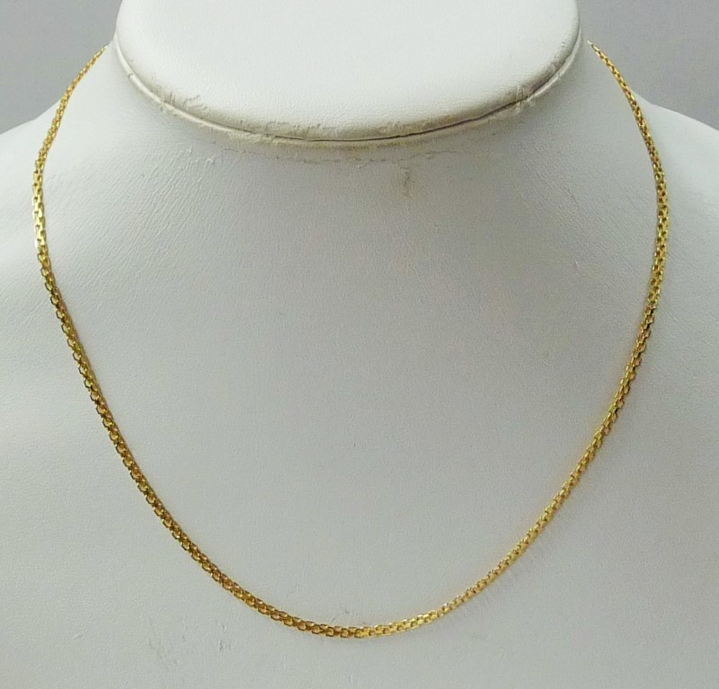 """18"""" Gold Chain 14K Yellow Gold 2.96dwt"""