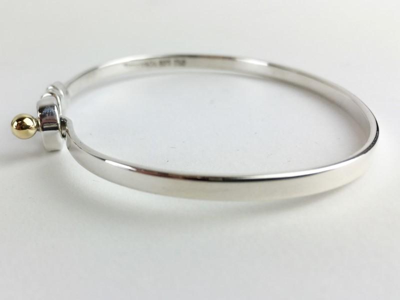Tiffany & Co. Sterling Silver .925 18kt Bracelet 9.45g