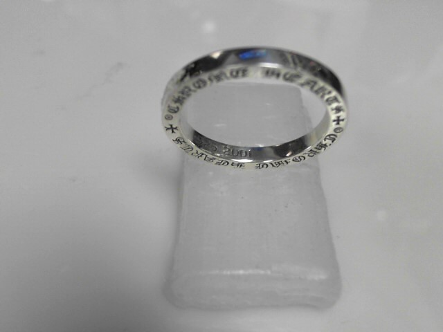 Chrome Hearts Sterlinjg Silver Plain Top 7.8g Size:13