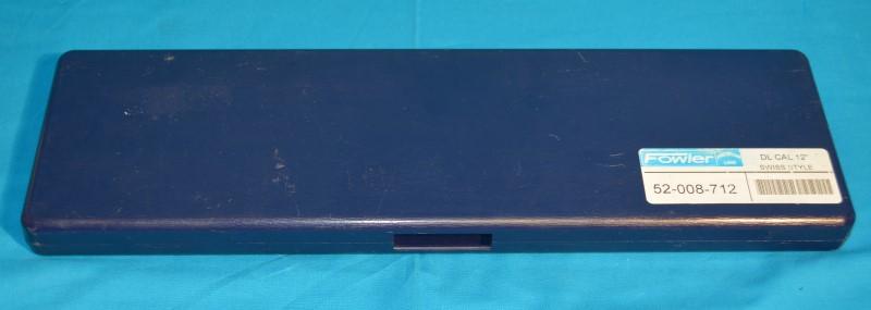 "FOWLER 52-008-712 Shockproof Dial Caliper 0-12"" Range .001"" w/Case"