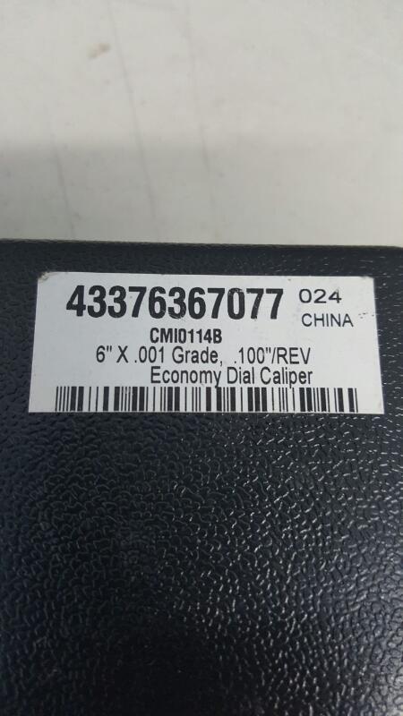 """Economy Dial Caliper (6"""" x .001 Grade), CMIO114B (43376367077) w/ Case"""