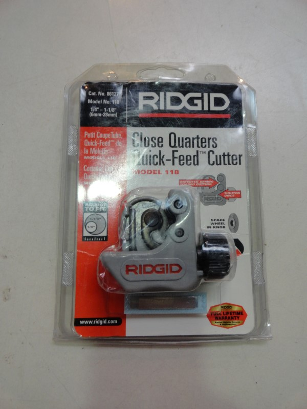 Ridgid Close Quarters Quick-Feed Cutter Model No. 118
