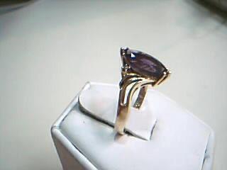 Purple Stone Lady's Stone & Diamond Ring 2 Diamonds .04 Carat T.W.