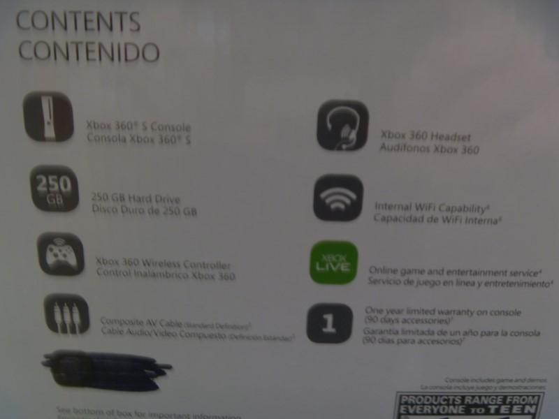 MICROSOFT 1439 XBOX 360 - 250GB WITH CONTROLLER/HEADPHONES/AV AND POWER CORDS