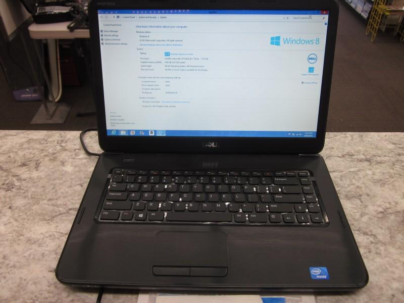 DELL LAPTOP 3520 - INTEL CELERON B820 @ 1.7GHZ - 4GB RAM - 320GB HDD - VERY GOOD