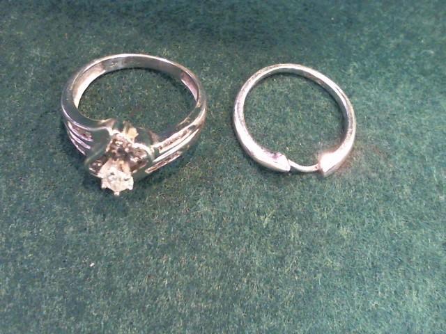 Lady's Diamond Wedding Set 19 Diamonds .61 Carat T.W. 14K Yellow Gold 6.8g