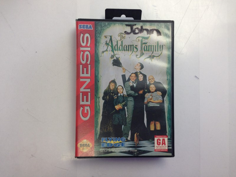 The Addams Family Sega Genesis Game