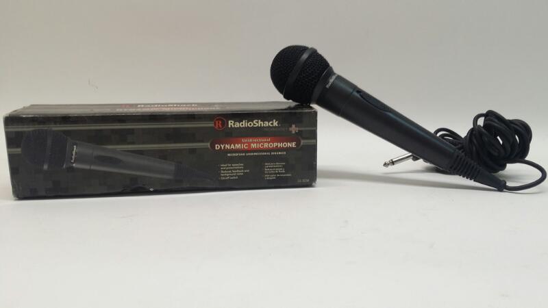 RadioShack Unidirectional Dynamic Corded Microphone 33-3038 in Box>