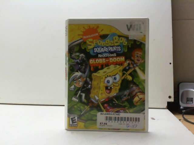NINTENDO Nintendo Wii Game SPONGEBOB SQUAREPANTS GLOBS OF DOOM WII