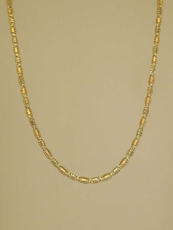 "26"" TRI-COLOR GUCCI CHAIN - 14K GOLD"
