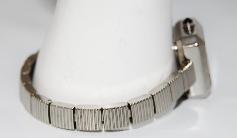 Dolce & Gabbana D&G Time Women's St. Steel Square Black Face Bracelet Logo Watch