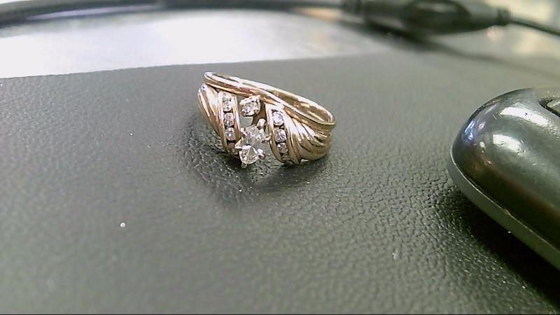 Lady's Diamond Fashion Ring 12 Diamonds 1.30 Carat T.W. 14K Yellow Gold 4.5g