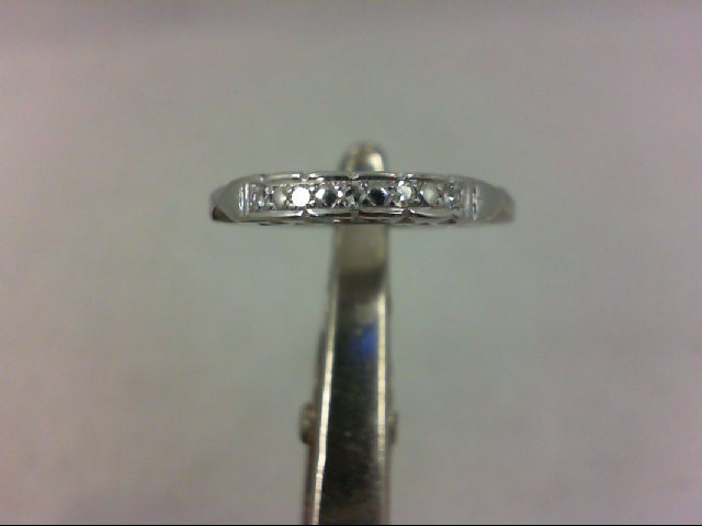 Lady's Diamond Wedding Band 5 Diamonds .05 Carat T.W. 14K White Gold 1.8g