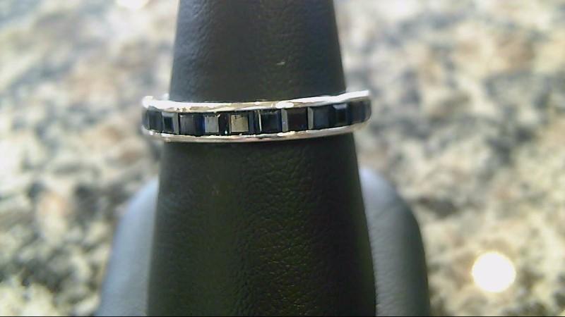 Eternity Sapphire 18K White Gold Ring