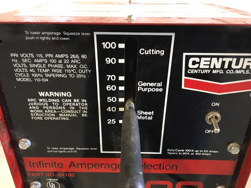 CENTURY Arc Welder 100 AMP ARC WELDER