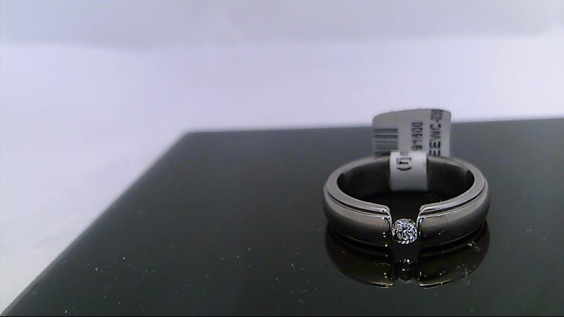 Gent's Diamond Ring .05 CT. Silver Titanium 3.8g