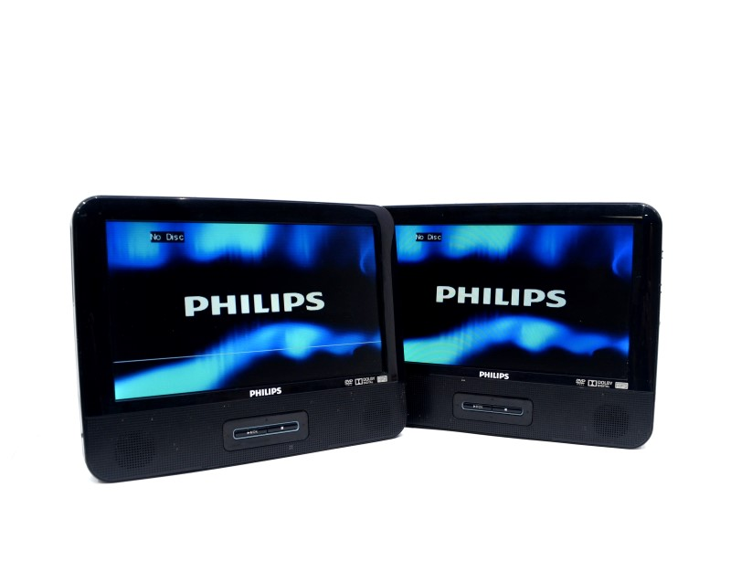 "Philips LCD 9"" Portable DVD Player Set PD9016P/37 with Straps>"