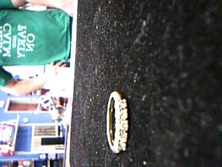 Lady's Gold-Diamond Anniversary Ring 5 Diamonds .75 Carat T.W. 10K Yellow Gold