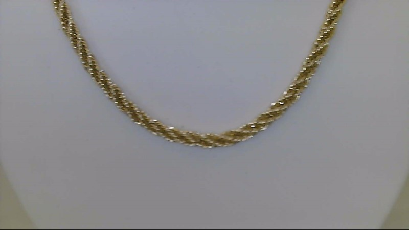 lady's 14k yellow gold 15 inch fashion chain 5.8g