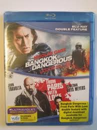 BLU-RAY MOVIE Blu-Ray DOUBLE FEATURE: BANGKOK DANGEROUS; FROM PARIS WITH