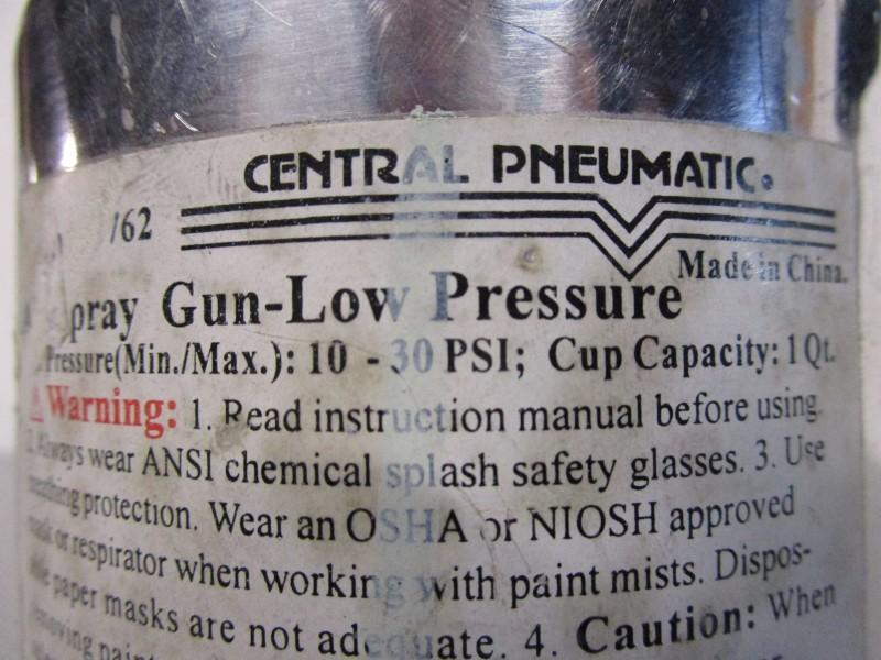 CENTRAL PNEUMATIC AIRSPRAY GUN, LOW PRESSURE