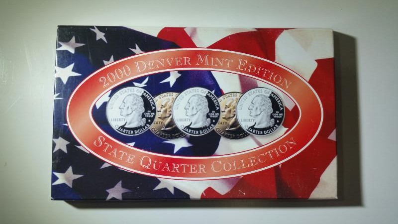 2000 Denver Mint State Quarter Collection MA, MD, SC, NH, VA Uncirc