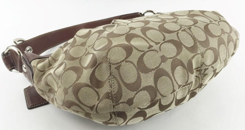 COACH SIGNATURE JACQUARD HOBO SHOULDER BAG