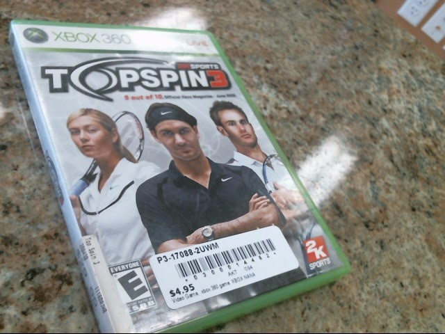 MICROSOFT Microsoft XBOX 360 Game TOPSPIN 3