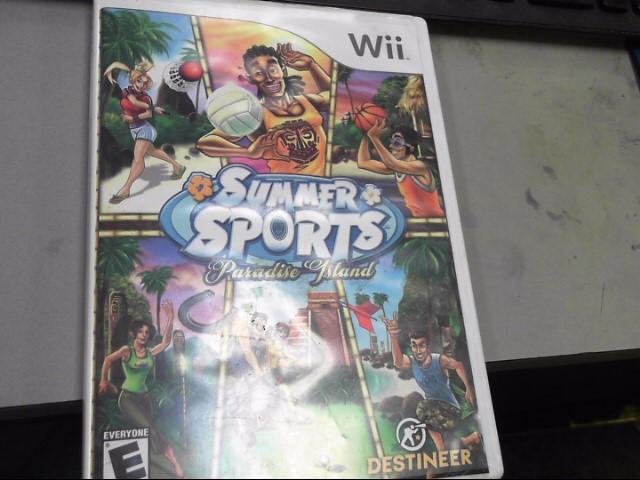 NINTENDO Nintendo Wii Game SUMMER SPORTS PARADISE ISLAND
