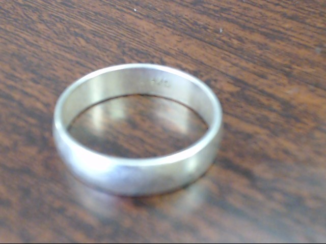 Gent's Silver Wedding Band 925 Silver 2.4g Size:9