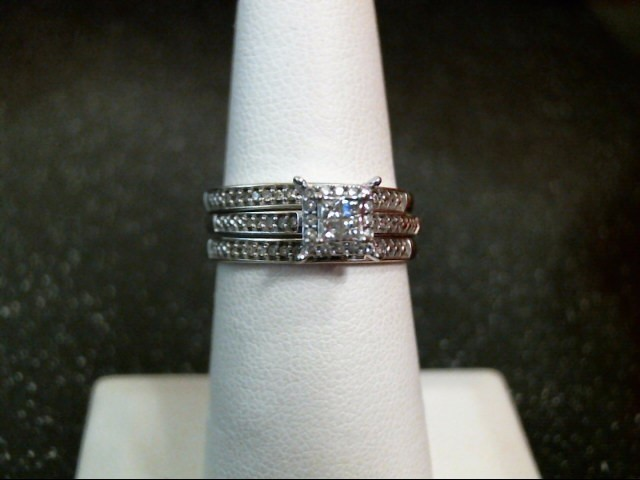 Lady's Diamond Engagement Ring 28 Diamonds .36 Carat T.W. 10K White Gold 4.3g