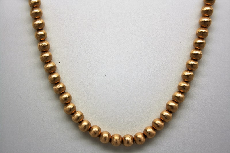"""BALL STYLE NECKLACE 14K YELLOW GOLD 15"""""""