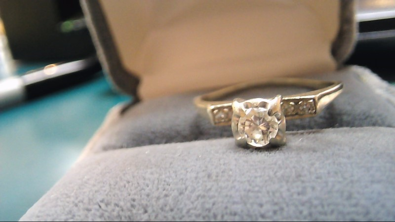 Lady's Diamond Solitaire Ring .33 CT. 14K Yellow Gold 3.5g Size:8