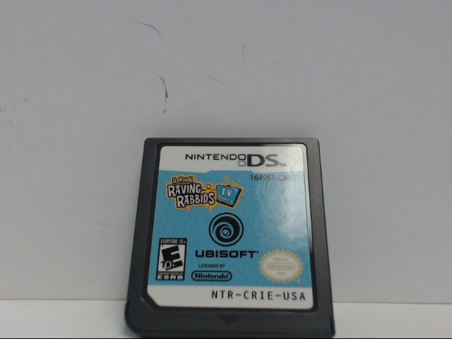 Nintendo DS Game RAYMAN RAVING RABBIDS TV PARTY Cartridge Only