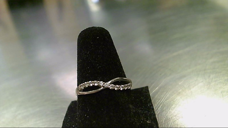Lady's Gold Ring 10K White Gold 0.8g