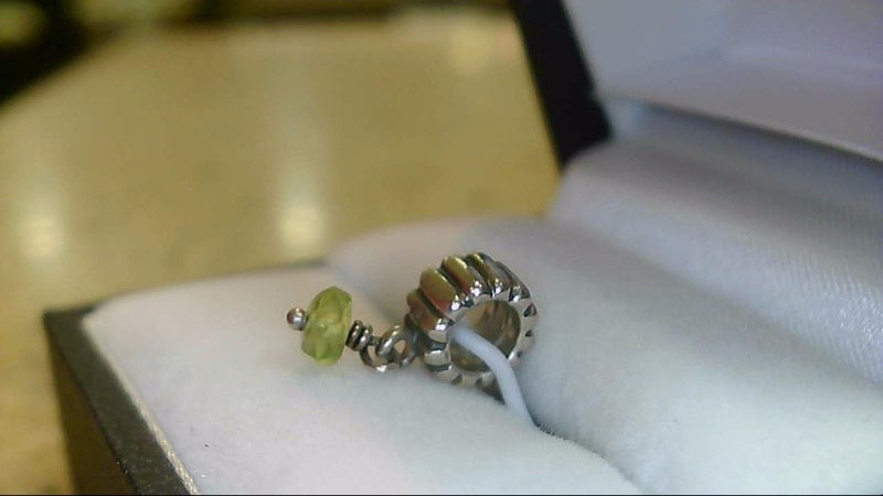 Pandora Green Bead Dangle Silver 925