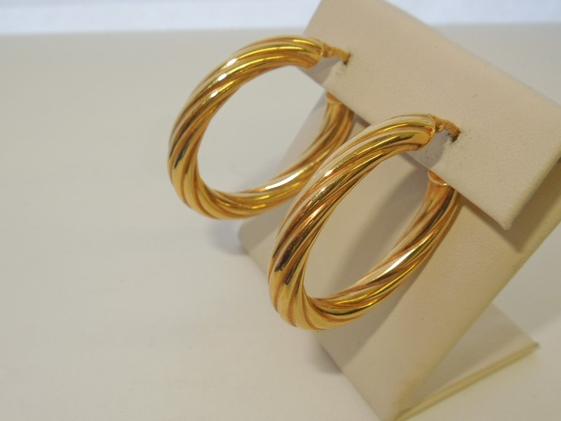 Gold Earrings 14K Yellow Gold 3.4g