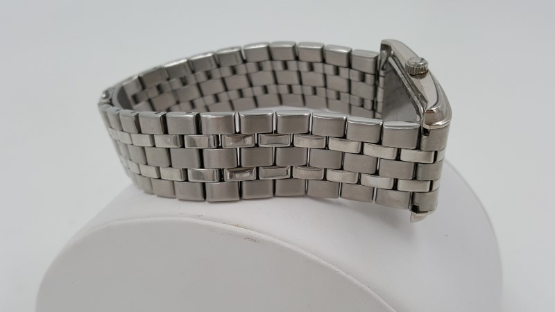 Bulova Men's Stainless Steel 96A001 Model Square Face Watch