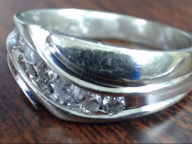 VINTAGE NATURAL DIAMOND WEDDING RING BAND SOLID REAL 14K WHITE GOLD