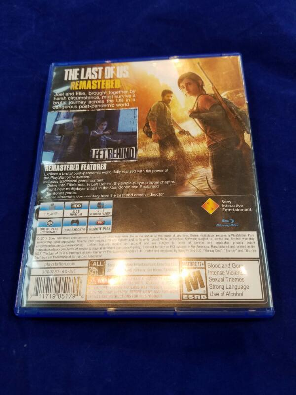 Sony PlayStation 4 Game THE LAST OF US REMASTERED - PS4